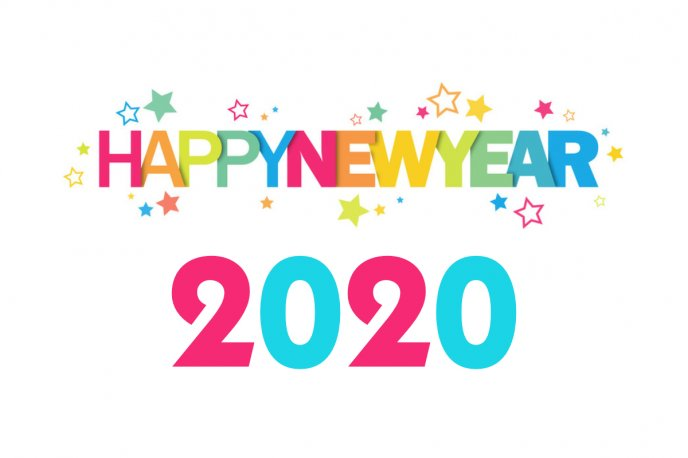 Colourful stars - Happy new Year 2020 - Be a good year