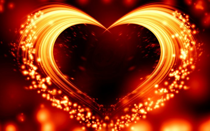 The fire from your heart - Love is everywhere Valentines Day