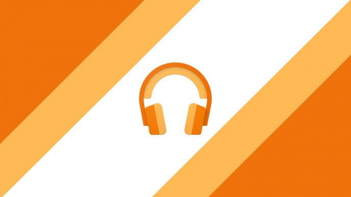 Google play orange music in headphones - Party time