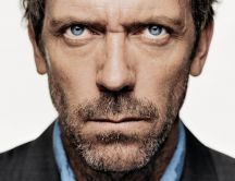 Hugh Laurie's poker face