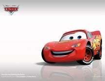 Smiling McQueen from Cars