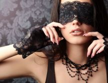 Beautiful masked woman