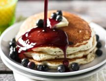 American pancakes with cranberries