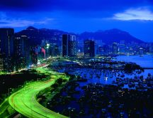 Beautiful Hong Kong at night