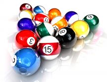Shiny billiard balls