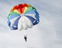 Parachuting HD wallpaper
