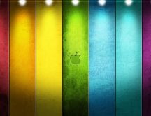 Apple Mac colorful stripes