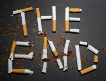 The end - written in cigarettes