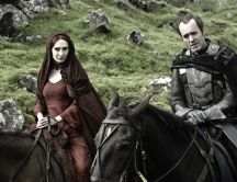 Game of Thrones season 2 - Melisandre and Stannis