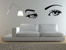 Big eyes on the wall