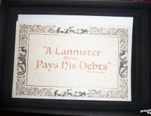 A Lannister always Pays his debts - Game of Thrones