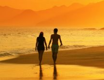 A walk on the beach with your loved one