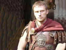 Kevin McKidd in his suit of armor in Rome