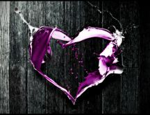 Abstract love - purple heart