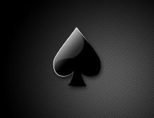 Black and white stripes - poker black heart
