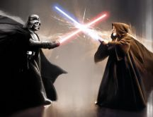 Star wars - fight between Darth Vader and Jedi