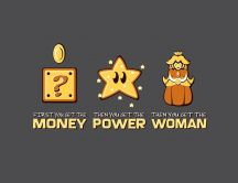 Funny wallpaper - money, power, woman