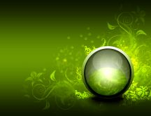Abstract vector - orb green ball HD wallpaper