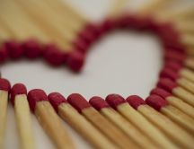 Matchstick heart HD wallpaper blurry