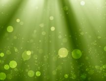 Green bokeh HD wallpaper