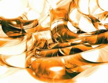 Abstract orange tubes HD wallpaper