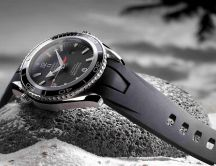 Omega watch on a stone HD wallpaper