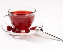A cup of fruit tea - raspberry tea