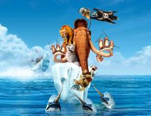 Ice Age 4 - Continental drift - floating on an iceberg