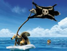 Ice Age 4 - Continental drift - Scrat and pirate flag