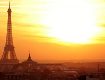 Paris - Eiffel Tower at sunset