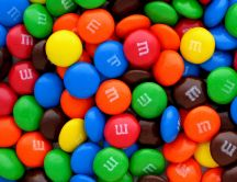Lots of m&m - delicious colored candies