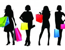 Girls at shopping - fashion wallpaper