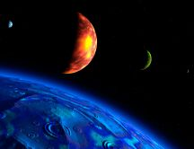 Picture from space HD wallpaper