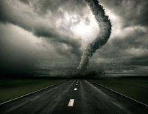 A tornado on the way HD wallpaper