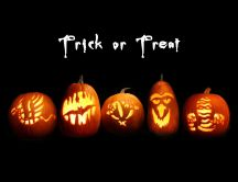Trick or Treat - cute pumpkins lanterns- Halloween wallpaper