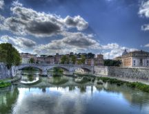 Bridge to Castel Sant'Angelo over Tiber - Rome
