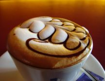 Art in a cup of coffee - sweet mornings