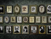 Happy Halloween - creepy paintings on the wall