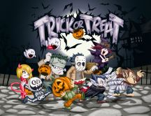 Trick or Treat - All monsters are on the street