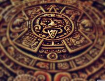 Blurry Mayan clock - HD wallpaper