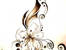 Abstract unique flower tattoo HD wallpaper
