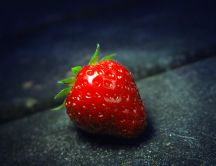 Delicious fruit - strawberry on the road HD wallpaper