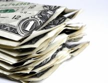 Stack of money - one dollar HD wallpaper