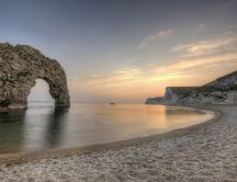 Durdle door - gate in the rock from England HD wallpaper