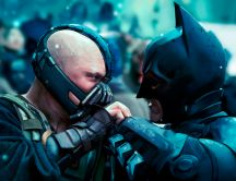 Batman and Bane fighting HD wallpaper