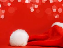 Santa's red cap HD wallpaper