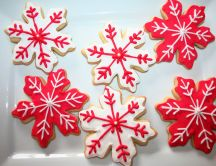 Delicious Christmas cookies in the shape of stars