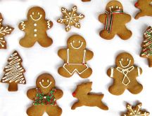 Gingerbread man, reindeer, snowflakes-Cookies for Christmas