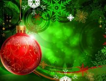 Abstract HD Christmas wallpaper - Big red ornament