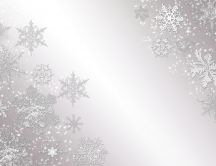 Beautiful snowflakes on a gray wall - HD wallpaper